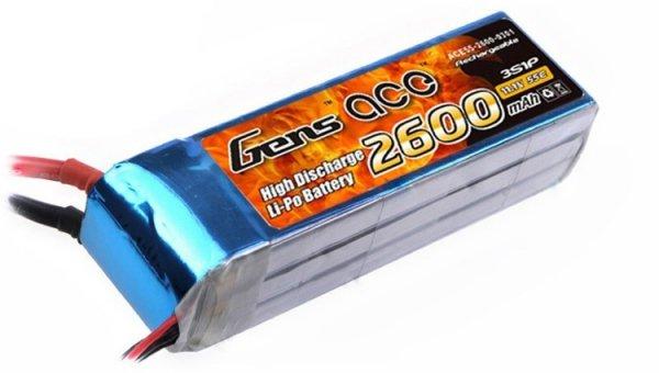 Akumulator Gens Ace 2600mAh 11.1V 60C 3S1P
