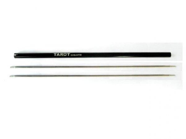 450 PRO - Belka ogonowa czarna (1) + wałek (2)