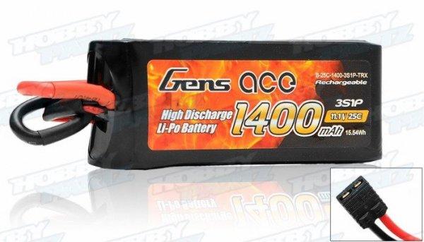 Akumulator Gens Ace 1400mAh 11.1V 25C 3S1P - TRX