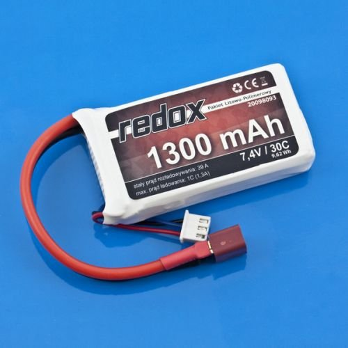 Akumulator Redox 1300mAh 7,4V 30c - Pakiet LiPo