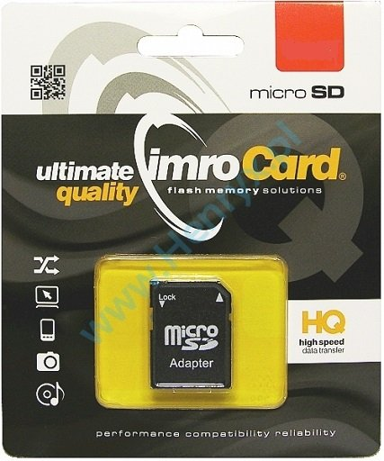 Karta pamięci micro SDHC 16GB + adapter imroCard
