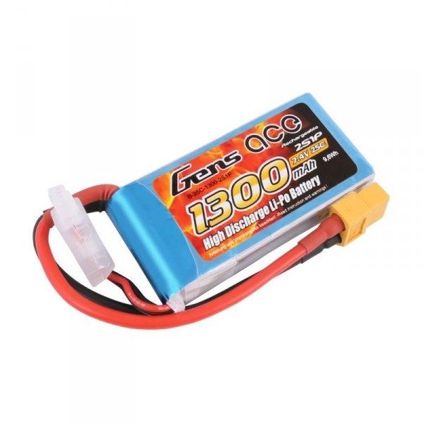 Akumulator Gens Ace 1300mAh 7.4V 25C 2S1P XT60