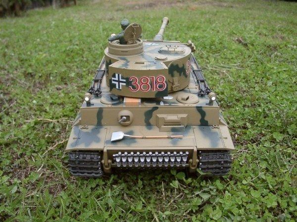 Czołg German Tiger 1 1:16 + Dym Kamuflar Heng Long