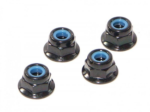 FLANGED LOCK NUT M4 4pcs Z684