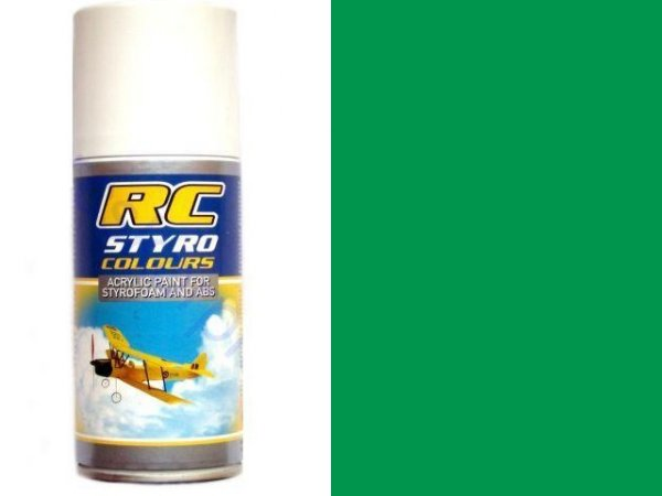 Lakier RC STYRO 311 GREEN do pianki i styropian