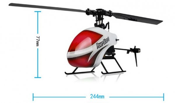 Helikopter RC WL Toys V966 6CH Lot 3D
