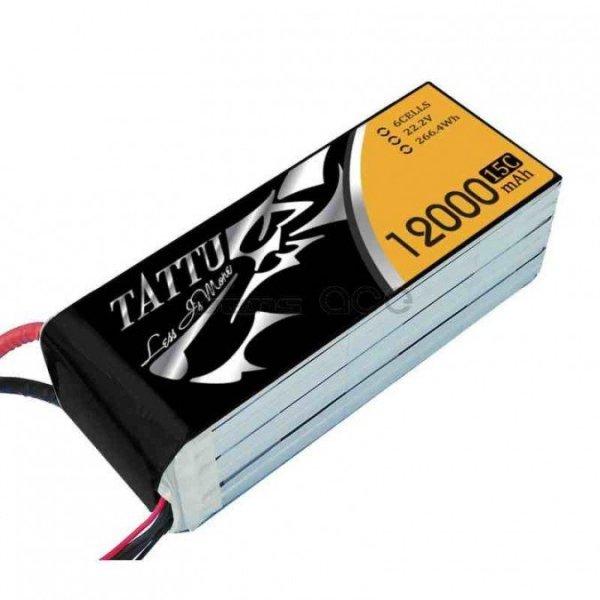 Gens Ace: 12000mAh 22.2V 15C TATTU Gens Akumlator