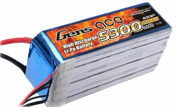 Gens Ace 5300mAh 22.2V 30C 6S1P Akumulator