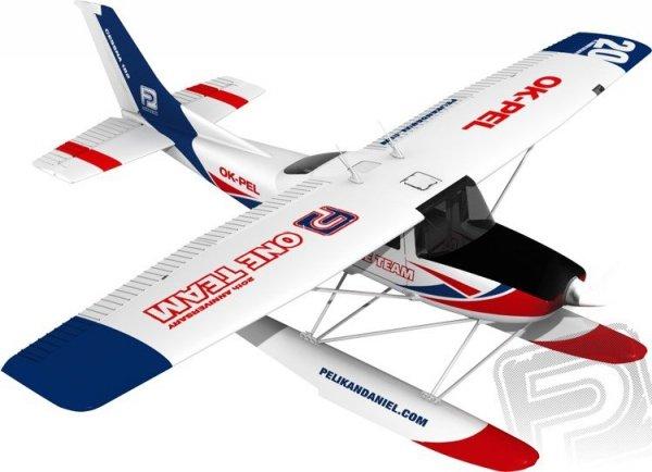 Samolot Cessna 182 1200 mm EPP z pływakami Pelikan