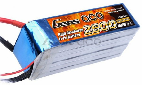 Gens Ace 2600mAh 22.2V 45C 6S1P Akumulator