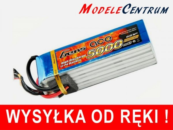 Gens Ace 5000mAh 22.2V 45C 6S1P Akumulator