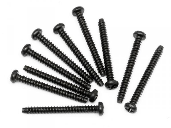 TP. BUTTON HEAD SCREW M3x28mm (10pcs) Z558