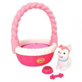 LITTLE LIVE PETS Piesek w koszyku różowy