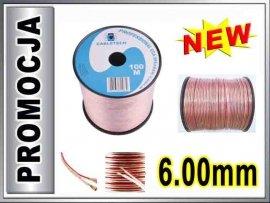 KAB0362 Kabel głośnikowy CCA 2x6.00mm CABLETECH 1m