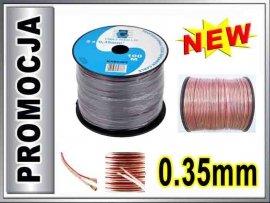 KAB0363 Kabel głośnikowy CCA 2x0.35mm CABLETECH 1m