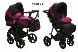 BabySafe AQUILA 02 Wózek 2w1 WIELOFUNKCYJNY + PARASOL