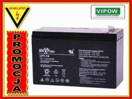 BAT0402 Akumulator żelowy 12V 7Ah MaxPower