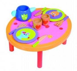BOIKIDO BK-6024 Drewniany stół i zestaw obiadowy