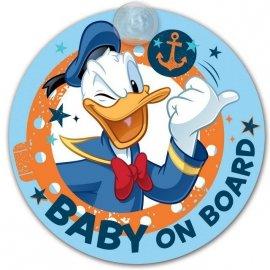 Tabliczka Z Przyssawką - Baby On Board - Kaczor Donald