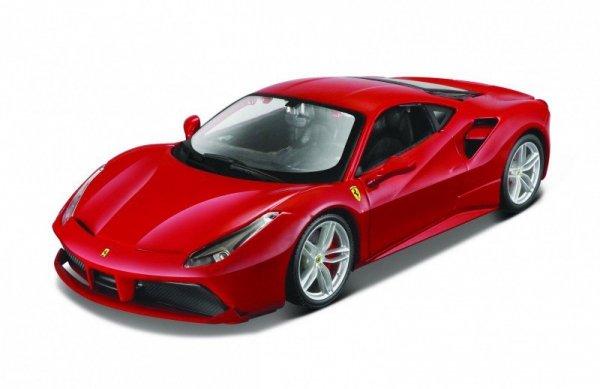 Model metalowy Ferrari 488 GTB czerwony 1:24 do skladania