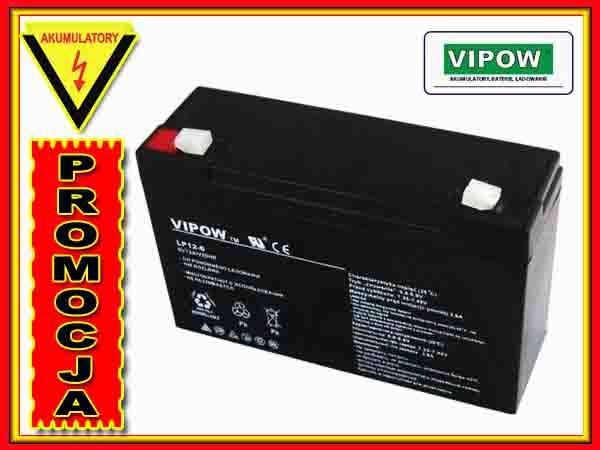 BAT0201 Akumulator żelowy VIPOW 6V 12Ah