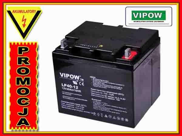 BAT0222 Akumulator żelowy VIPOW 12V 40Ah