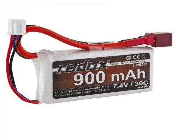 Pakiet Akumulator Redox LiPo 7,4V 900mAh 30c