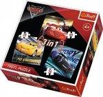 TREFL 3W1 CARS 3 LEGENDY WYŚCIGU AUTA 3 PUZZLE 4+