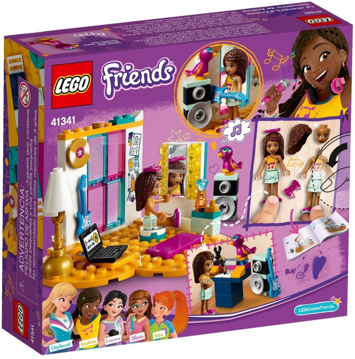 Lego Friends Sypialnia Andrei 41341 6 Friends Lego