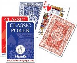 PIATNIK KARTY POJEDYNCZA TALIA PLASTIK CLASSIC POKER 8+