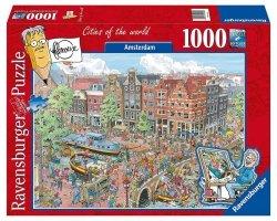 RAVENSBURGER 1000 EL. AMSTERDAM PUZZLE 14+