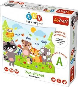 TREFL FUN FOR EVERYONE ZESTAW ZABAW ZOO ALFABET 4+