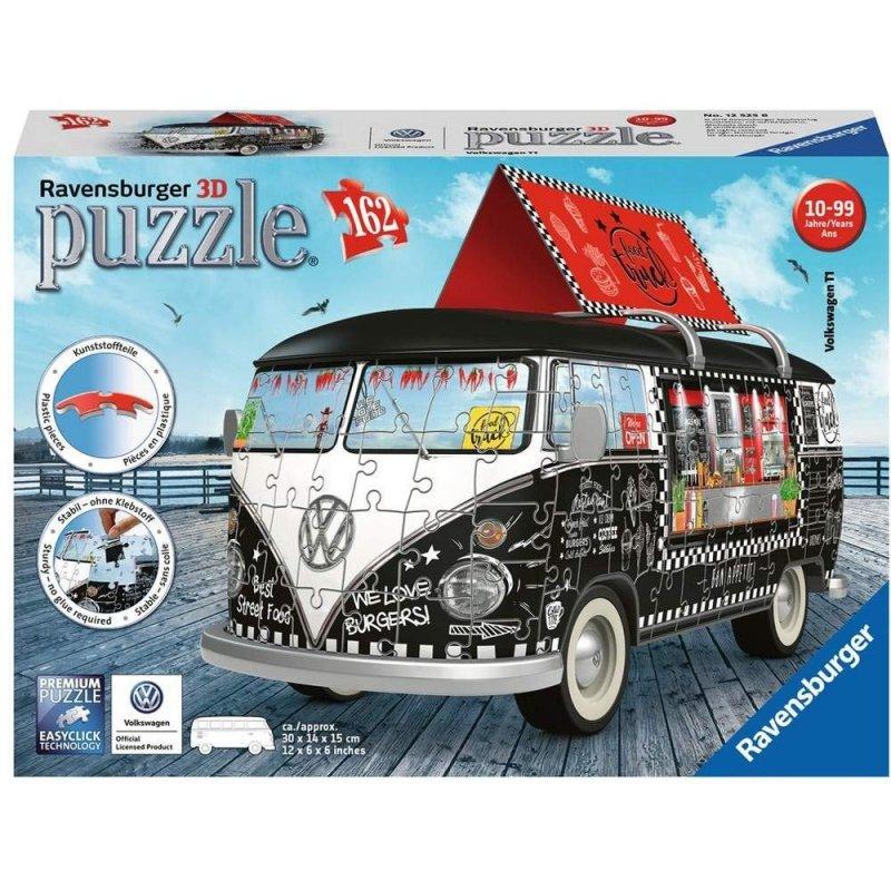 RAVENSBURGER 162 EL. 3D VW BUS FOOD TRUCK PUZZLE 10+
