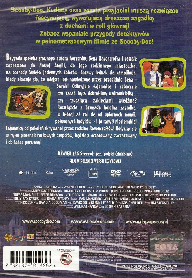 SCOOBY-DOO I DUCH CZAROWNICY (Scooby-Doo and the Witches Ghost) (DVD)
