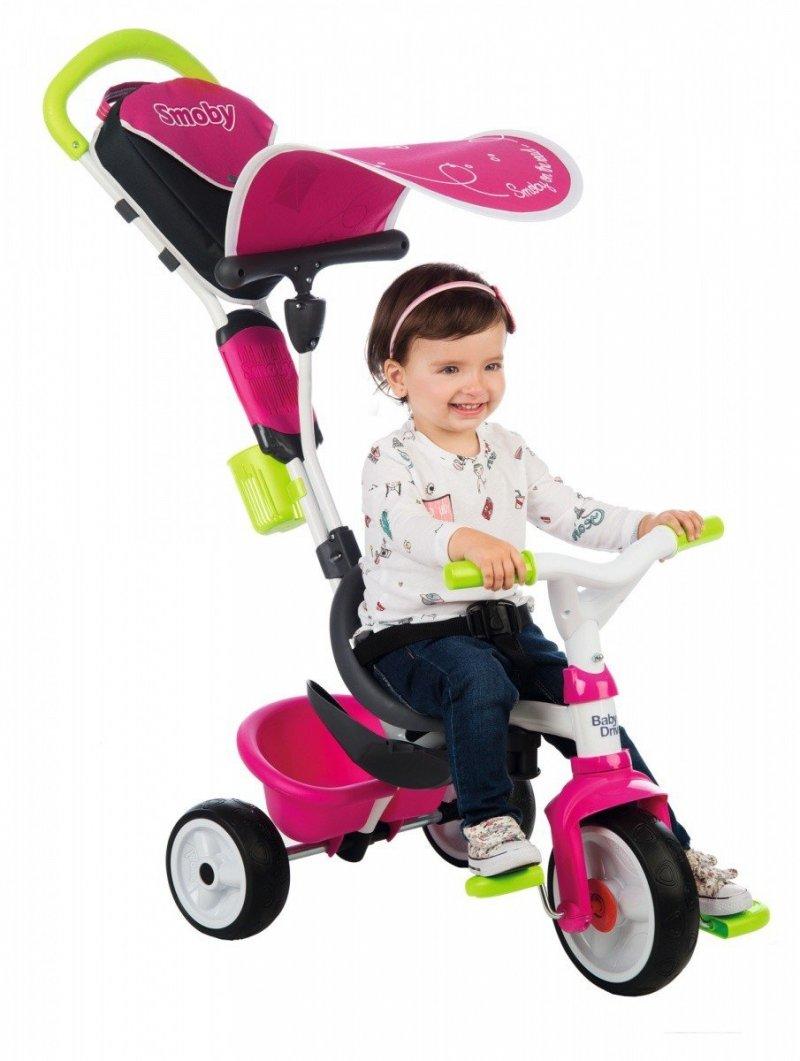 SMOBY ROWEREK BABY DRIVER KOMFORT RÓŻOWY 10M+