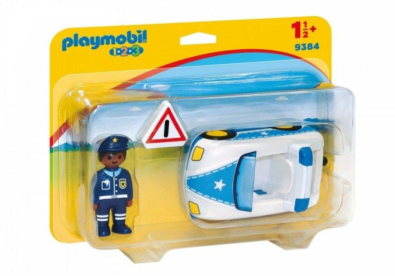 PLAYMOBIL 1-2-3 SAMOCHÓD POLICYJNY 9384 18M+