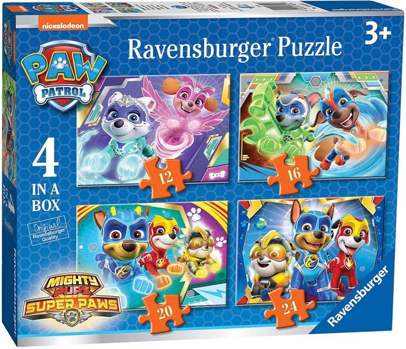 RAVENSBURGER PUZZLE 4W1 PSI PATROL POTĘŻNE SZCZENIAKI 3+