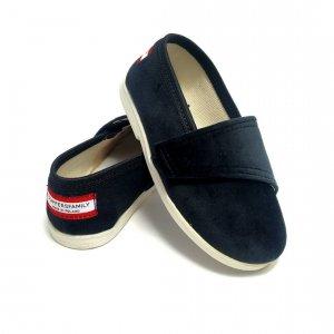Buty dla dzieci na rzep nature LOWERKI Czarna Pantera