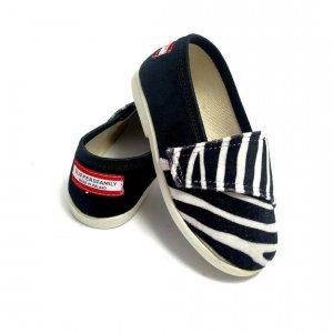 Buty dla dzieci na rzep nature LOWERKI Zebra