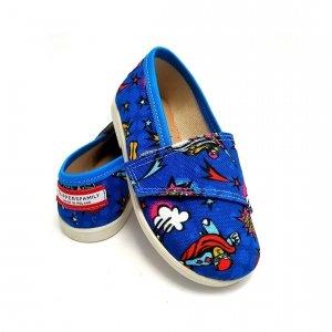 Buty dla dzieci na rzep Slippers Family Hero