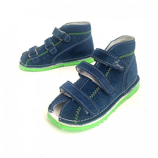 Sandały skórzane dla dzieci Bena BLUE