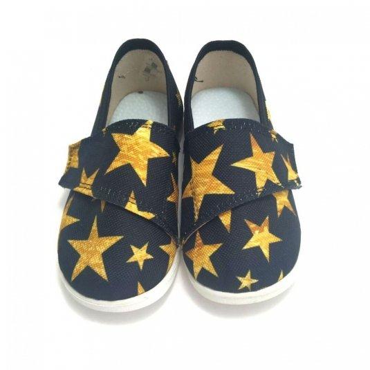 Buty dla dzieci na rzep print LOWERKI Black Stars