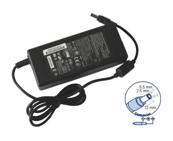 zasilacz do notebooków HP, Compaq 18.5V 4.9A (90W) - wtyk 5.5 x 2.5 x 12 mm fork