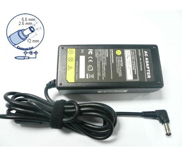 zasilacz do notebooków 19V 3.16A (60W) - wtyk 5.5 x 2.5 x 12 mm fork