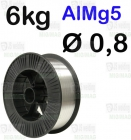 DRUT AlMg5  Ø 0,8 - 6KG