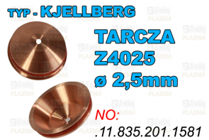 TARCZA - Z4025 - ø 2,5mm - .11.835.201.1581