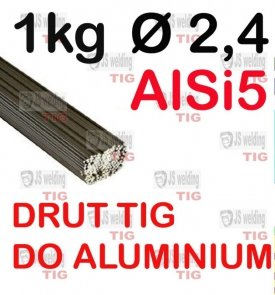 DRUT TIG AlSi5 DO ALUMINIUM  Ø 2,4 mm
