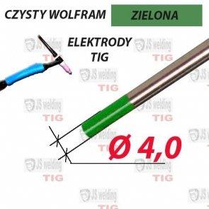 WP ELEKTRODA TIG ZIELONA Ø 4,0 mm