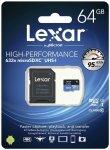 Lexar microSDXC 633x UHS-I  64GB z adapterem