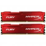 Kingston HyperX DIMM 16 GB DDR3-1600 Kit HX316C10FRK2/16, Fury-Serie